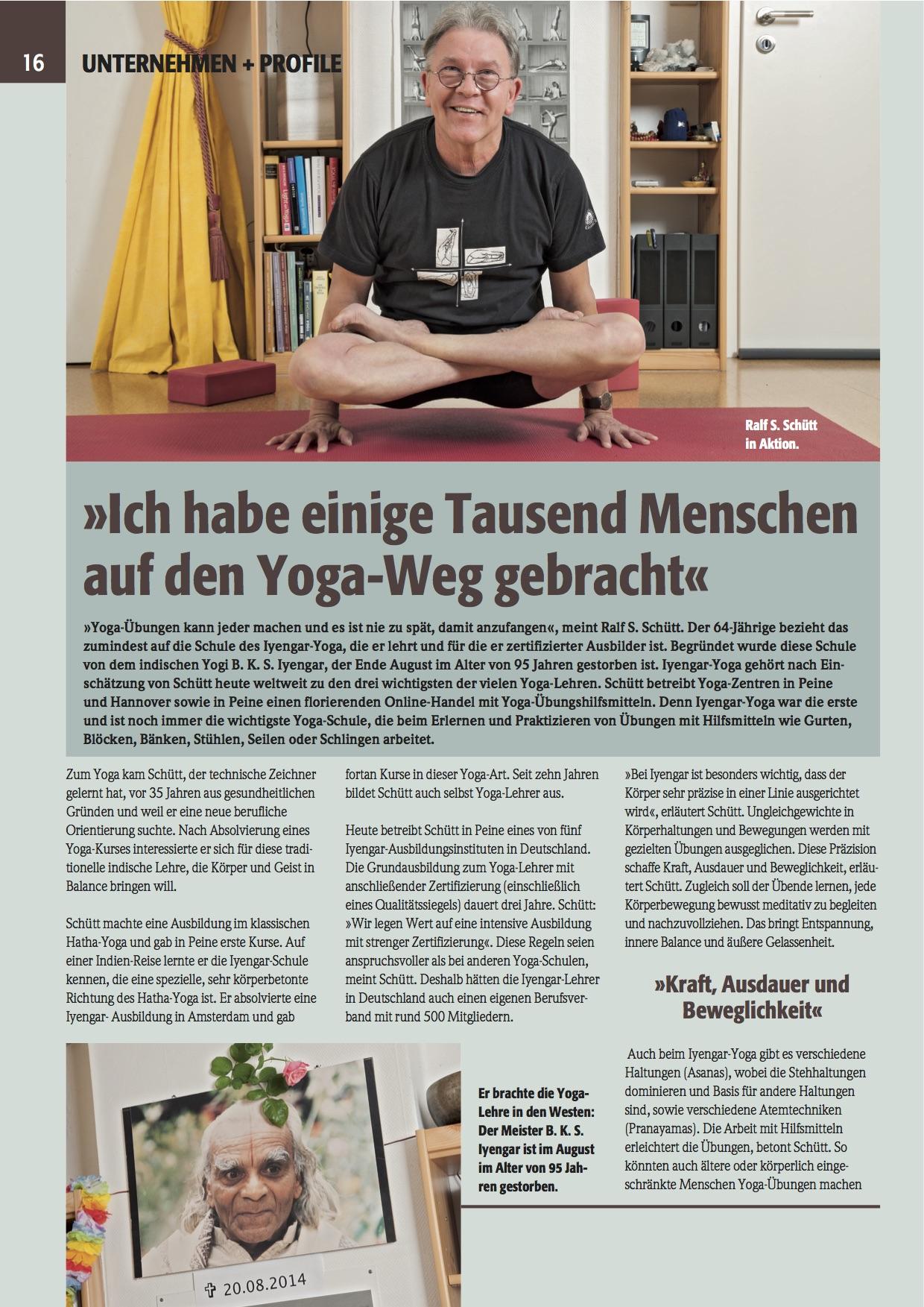 Yoga Peine Presse